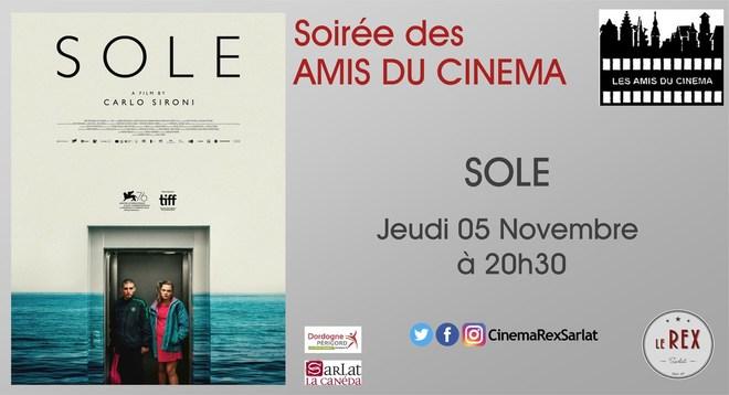 soirée Amis du Cinéma: SOLE // Jeudi 05 Novembre à 20h30