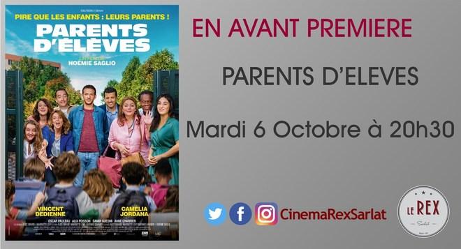 Avant Première PARENT D'ELEVES // Mardi 06 Octobre à 20h30