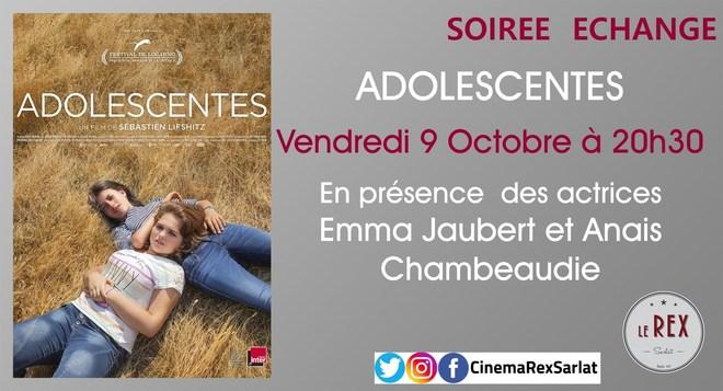 Soirée échanges: ADOLESCENTES // Vendredi 09 Octobre à 20h30