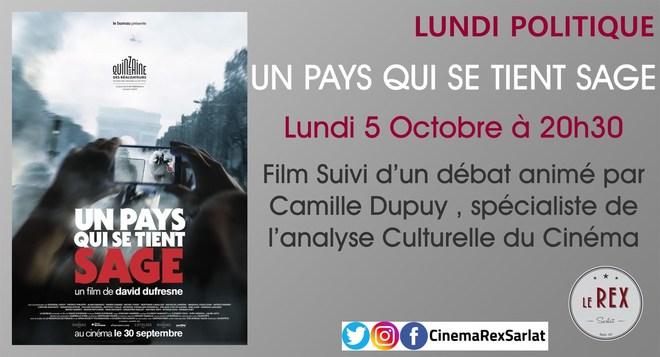 Lundi politique: UN PAYS QUI SE TIENT SAGE // Lundi 05 octobre à 20h30
