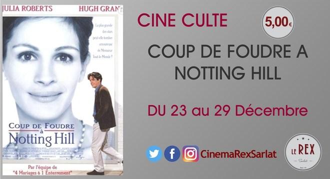 Ciné culte: coup de foudre a notting hill //DU 23 au 29 DECEMBRE