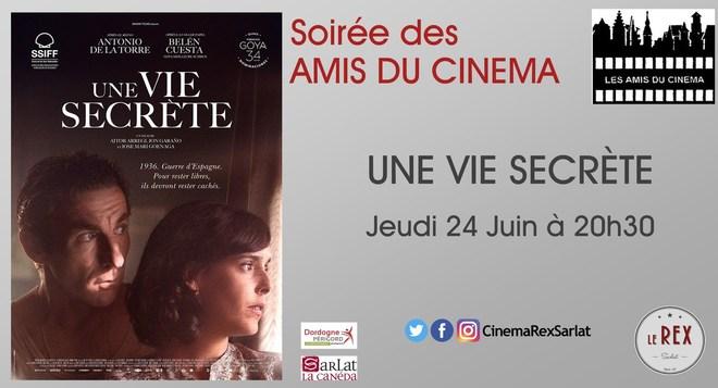 Soirée Amis du cinéma: UNE VIE SECRETE // Jeudi 24 Juin à 20h30