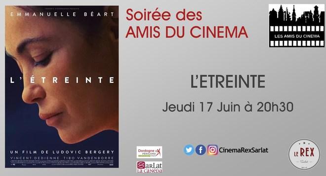Soirée Amis du cinéma:  L'ETREINTE // Jeudi 17 Juin à 20h30