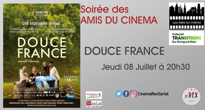 Soirée Amis du cinéma: DOUCE FRANCE // Jeudi 08 Juillet à 20h30