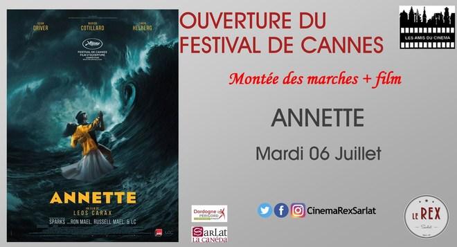 Ouverture du Festival de CANNES: ANNETTE // Mardi 06 Juillet