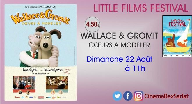 Little films Festival: WALLACE & GROMIT: coeurs à modeler // Dimanche 22 Août à 11h