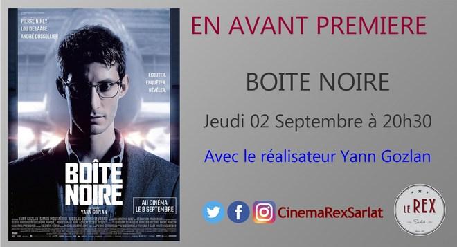 Avant Première BOITE NOIRE // Jeudi 02 Septembre à 20h30