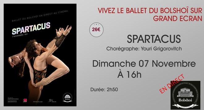 Le Ballet du Bolchoï au ciné: SPARTACUS // Dimanche 07 Novembre à 16h