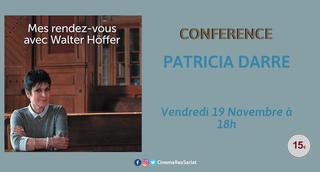 Conférence Patricia Darré // Vendredi 19 Nov à 18h
