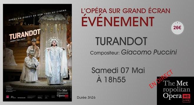 Opéra en direct de New-York: TURANDOT // Samedi 07 Mai à 18h55