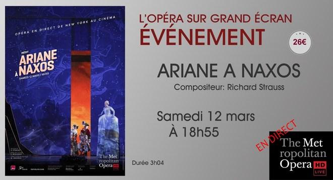 Opéra en direct de New-York: ARIANE A NAXOS // Samedi 12 Mars à 18h55