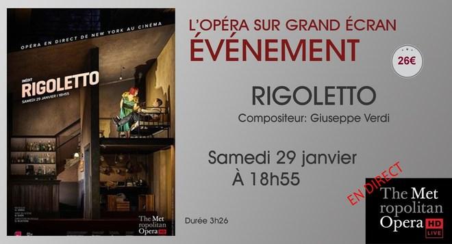 Opéra en direct de New-York: RIGOLETTO // Samedi 29 Janvier à 18h55