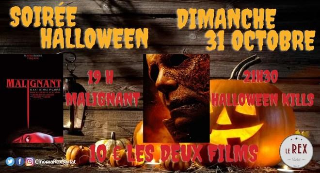 Soirée HALLOWEEN:2 films MALIGNANT à 19h  et HALLOWEEN KILLS à 21h30