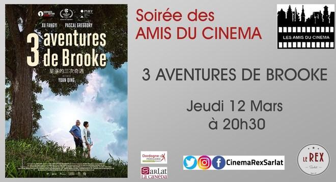 Soirée Amis du Cinéma: 3 AVENTURES DE BROOKE // Jeudi 12 Mars à 20h30