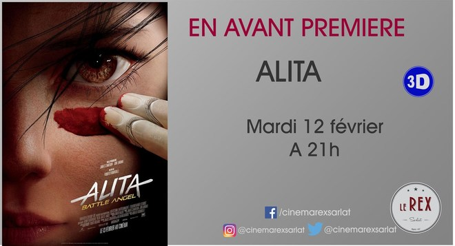 Avant Première: ALITA: battle angel 3D // Mardi 12 Février à 21h