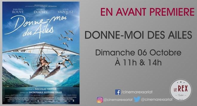 Avant Première:DONNE-MOI DES AILES // Dimanche 06 Octobre à 11h & 14h