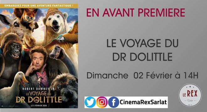 Avant Première: LE VOYAGE DU DR DOLITTLE // Dimanche 02 Février à 14h