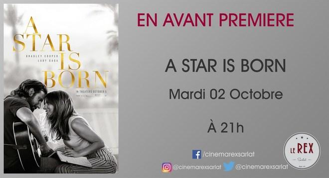 Avant Première - A STAR IS BORN // Mardi 2 Octobre à 21h en VO
