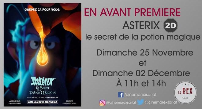 Avant Première: ASTERIX et la potion magique//Dimanche 25 Novembre à 11h et 14h et le 2 Décembre à 11h et 14h en 2D