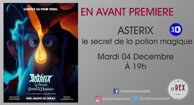 Avant Première: ASTERIX et la potion magique / Mardi 04 Décembre à 19h en 3D