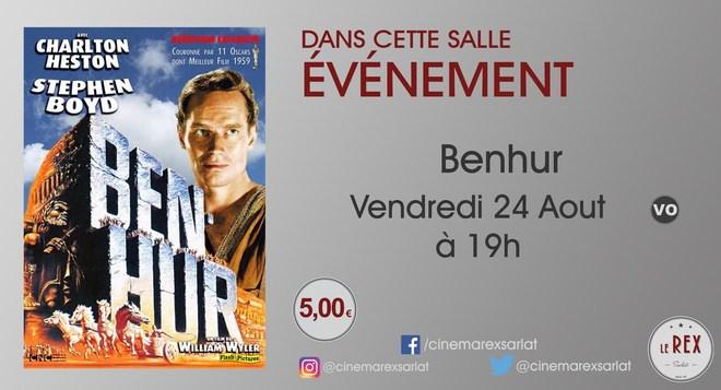 Ciné Classic // BENHUR le Vendredi 24 Aout à 19h