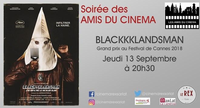 Amis du Cinéma - BLACKKKLANDSMAN // Jeudi 13 Septembre à 20h30