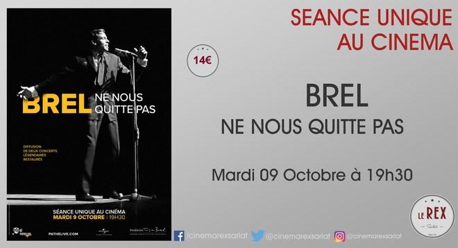 Concert sur Grand Ecran - BREL // Mardi 9 Octobre à 19h30