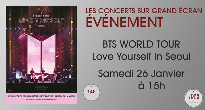 Concert: BTS WORLD TOUR // Samedi 26 Janvier à 15h