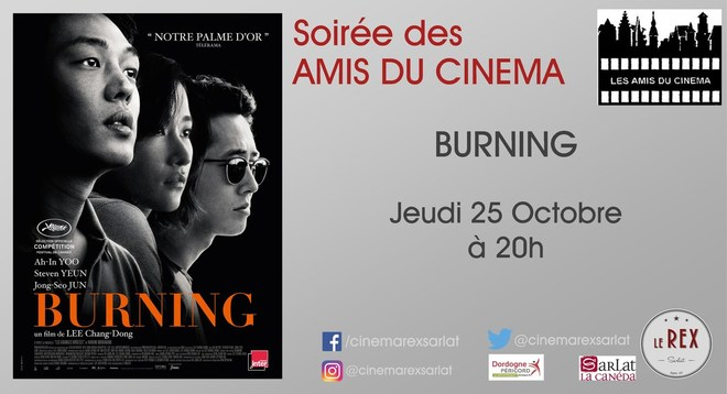 Amis du Cinéma - BURNING // Jeudi 25 Octobre à 20h