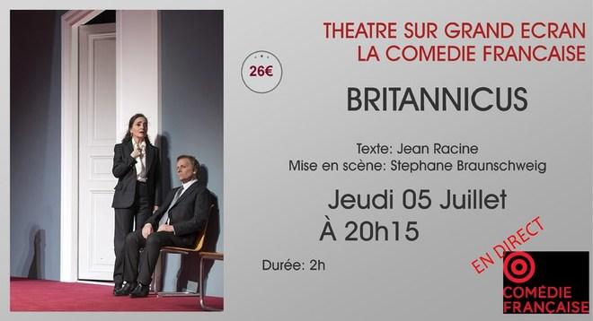 Comédie Française - BRITANNICUS // Jeudi 5 Juillet 2018 à 20h15