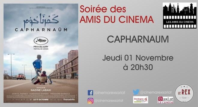 Soirée Ami du Cinéma:CAPHARNAUM // Jeudi 01 Novembre à 20h30