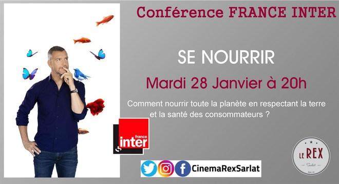 Conférence France Inter: SE NOURRIR // Mardi 28 Janvier à 20h