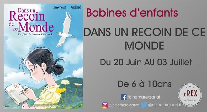 Bobines d'Enfants: DANS UN RECOIN DE CE MONDE // Du 20 Juin au 03 Juillet