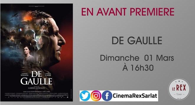 Avant Première: DE GAULLE // Dimanche 01 Mars 2020