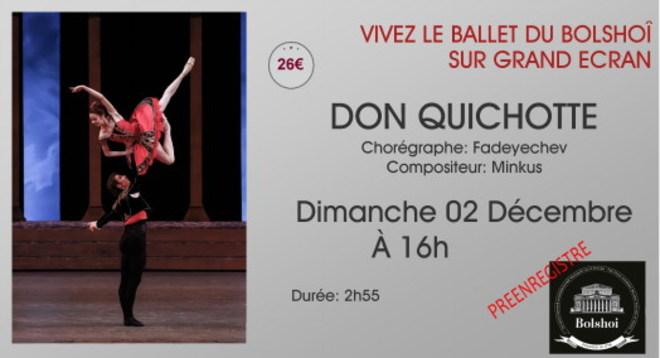 Ballet du Bolshoï - DON QUICHOTTE // Dimanche 2 Décembre à 16h