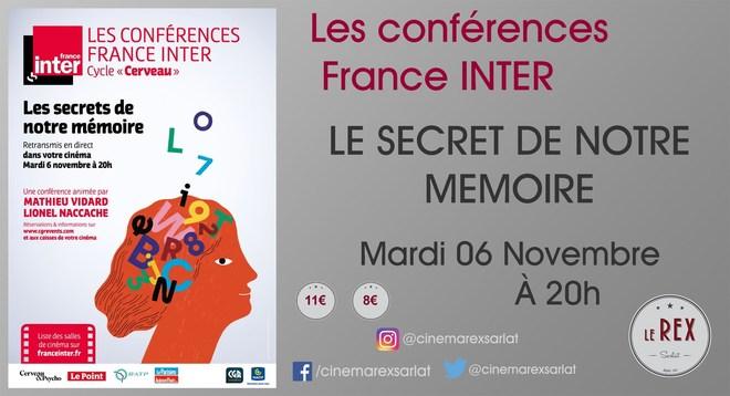 Les conférences FRANCE INTER // mardi 06 Novembre à 20h