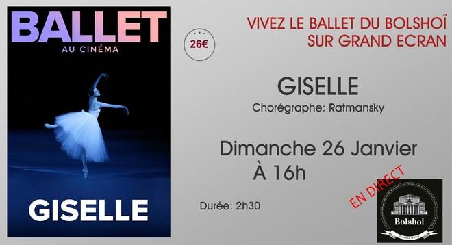 Ballet du Bolchoi: GISELLE / Dimanche 26 Janvier à 16h