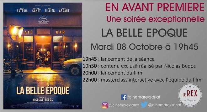 Avant Première: LA BELLE EPOQUE// Mardi 08 Octobre à 19h45