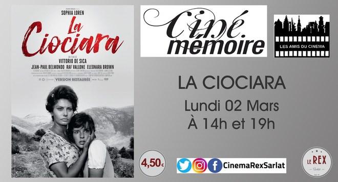 Ciné Mémoire: LA CIOCIARA  // Lundi 02 Mars à 14h et 19h