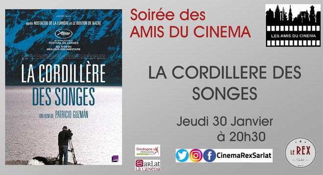 Soirée Amis du Cinéma: LA CORDILLERE DES SONGES // Jeudi 30 Janvier à 20h30