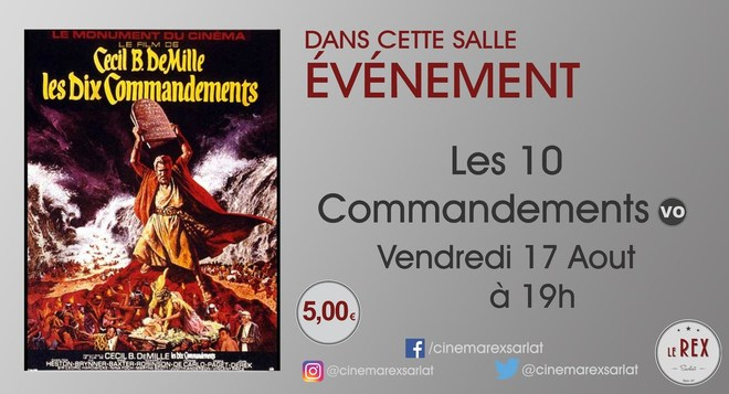 Ciné Classic // LES 10 COMMANDEMENTS le Vendredi 17 Août à 19h