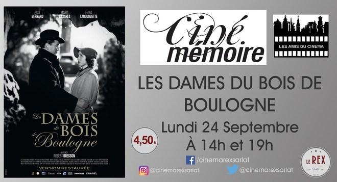 Ciné Mémoire - LES DAMES DU BOIS DE BOULOGNE // Lundi 24 Septembre