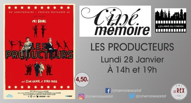 Ciné Mémoire LES PRODUCTEURS // Lundi 28 Janvier à 14h et 19h