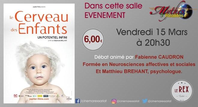 Mythes & Réalités : LE CERVEAU DES ENFANTS // Vendredi 15 Mars à 20h30