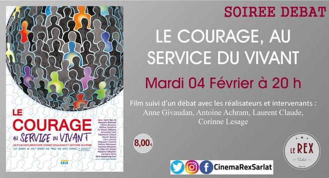 Soirée débat: LE COURAGE, AU SERVICE DU VIVANT // Mardi 04 Février à 20h