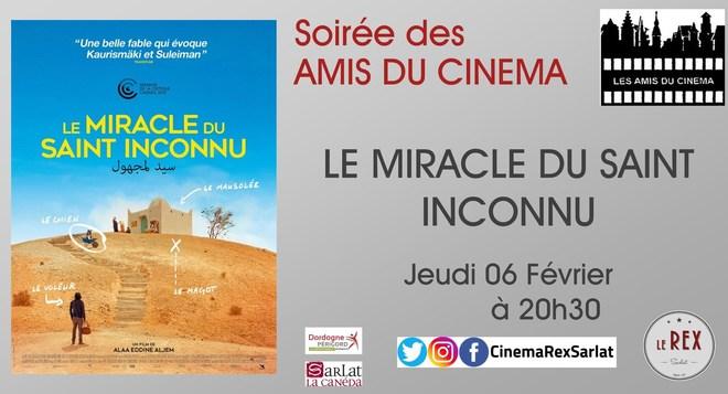 Soirée Amis du Cinéma:LE MIRACLE DU ST INCONNU // Jeudi 06 Février à 20h30