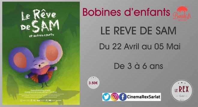 Bobines d'Enfants: LE REVE DE SAM // Du 22 Avril au 05 Mai