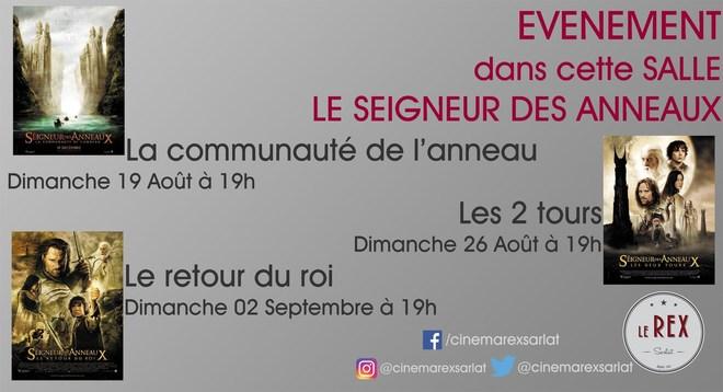 Ciné Classic // LE SEIGNEUR DES ANNEAUX // Dimanche 19 Août à 19h