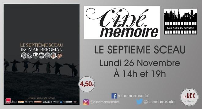 Ciné Mémoire: LE SEPTIEME SCEAU // Lundi 26 Novembre à 14h et 19h