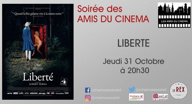 Soirée Amis du cinéma: LIBERTE // Jeudi 31 Octobre à 20h30